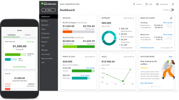 Quickbooks Online Desktop and Mobile App Accounting Software